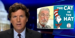 Fox News host Tucker Carlson discusses the Dr. Seuss racism controversy. (Photo credit: YouTube/Fox News)