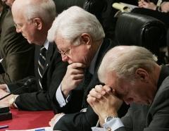 Sen. Ted Kennedy and Sen. Joe Biden, Jan. 11, 2016. (Photo by Mark Wilson/Getty Images)