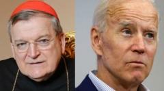 Cardinal Raymond Leo Burke and President Joe Biden. (Getty Images)