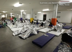 A still frame from video of a migrant child holding pen released by U.S. Customs and Border Protection. Compare this view with the one below posted by Sen. Ted Cruz (R-Texas) (Photo: Screen capture)