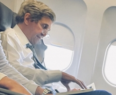 Special climate envoy John Kerry maskless on a commercial flight. (Photo: Tennessee Star)