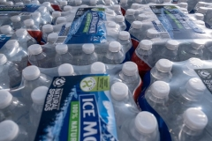 Nothing in Georgia's new election integrity law bars people from getting water, as long as they serve themselves. But political partisans can't use water, food, or gifts to approach waiting voters and urge them to vote for a particular candidate.  (Photo by SETH HERALD/AFP via Getty Images)