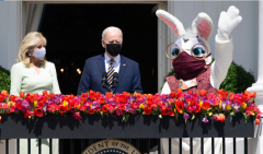 President Joe Biden, first lady Jill Biden, and an Easter Bunny.  (Google Images)