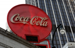 Coca-Cola signage atop the Olympia Building downtown in Atlanta, Ga. (Photo credit: Raymond Boyd/Getty Images)
