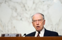 Ranking member Sen. Chuck Grassley, R-IA speaks during a Senate Judiciary Committee hearing on voting rights on Capitol Hill in Washington,DC on April 20, 2021. (Photo by BILL CLARK/POOL/AFP via Getty Images)
