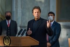 Pakistani Prime Minister Imran Khan. (Photo by Wakil Kohsar/AFP via Getty Images)