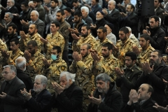 Islamic Revolutionary Guard Corps personnel at Friday prayers in Tehran. The Trump administration in 2019 designated the IRGC as a foreign terrorist organization. (Photo by Scott Peterson/Getty Images)