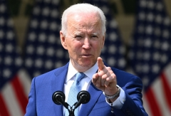 President Joe Biden speaks about gun violence prevention in the Rose Garden of the White House. (Photo credit: BRENDAN SMIALOWSKI/AFP via Getty Images)