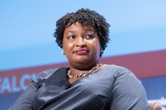 Stacey Abrams speaks onstage at the National Town Hall on the second day of the 48th Annual Congressional Black Caucus Foundation. (Photo credit: Earl Gibson III/Getty Images)
