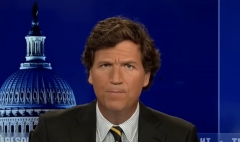 Tucker Carlson discusses the consequences of mass immigration on the American electorate. (Photo credit: Fox News)
