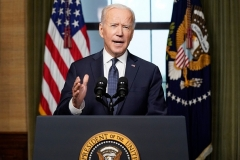 President Joe Biden will announce a tax-and-spending plan estimated at .8 trillion in a speech on Wednesday night. (Photo by ANDREW HARNIK/POOL/AFP via Getty Images)