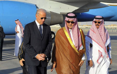 Then-Vice President Joe Biden with Prince Saudi al-Faisal at the Riyadh airbase, Oct. 27, 2011. (Photo/AFP via Getty Images)