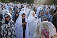 Iranian women pray on Eid al-Fitr, the end of Ramadan, in western Tehran. (Photo by Majid Saeedi/Getty Images)