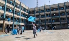 A UNRWA-run school in Gaza City. (Photo by Mahmud Hams/AFP via Getty Images)