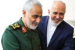 n undated photo released by Iran's state news agency shows Foreign Minister Javad Zarif with the late Qods Force commander Major-General Qassem Soleimani. (Photo: IRNA)
