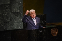 Mahmoud Abbas prend la parole à l'Assemblée générale des Nations Unies en 2018. Abbas en est maintenant à la 16e année de son mandat de quatre ans. (Photo par Stephanie Keith / Getty Images)