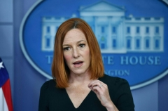 White House Press Secretary Jen Psaki speaks during the daily press briefing at the White House on May 4, 2021 in Washington, DC. (Photo by NICHOLAS KAMM/AFP via Getty Images)