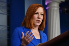 White House Press Secretary Jen Psaki holds a press briefing in the Brady Briefing Room of the White House in Washington, DC on May 10, 2021. (Photo by NICHOLAS KAMM/AFP via Getty Images)