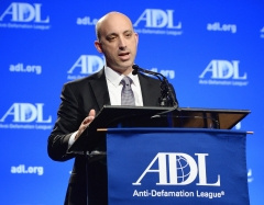 The next national director of the Anti-Defamation League, Jonathan A. Greenblatt, speaks onstage at the morning session of the ADL Annual Meeting on Nov. 6, 2014. (Photo credit: Michael Kovac/WireImage)