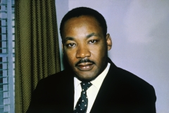 Featured is a close-up of the Reverend Dr. Martin Luther King Jr. (Photo credit: Bettmann/Contributor/Getty Images)