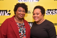 Stacey Abrams and Yamiche Alcindor attend Featured Session: Lead from the Outside: How to Make Real Change during the 2019 SXSW Conference and Festivals. (Photo credit: Danny Matson/Getty Images for SXSW)