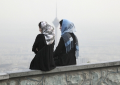 Young Iranian women in Tehran. (Photo by Franco Czerny/Getty Images)