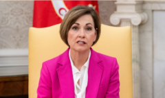 Iowa's Republican Gov. Kim Reynolds.  (Getty Images)