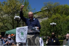 Senate Majority Leader Schumer at the New York City Cannabis Parade and Rally, May 1, 2021. (Photo by Angela Weiss/AFP via Getty Images)