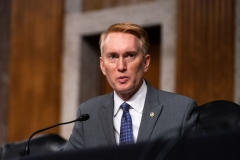 Senator James Lankford, R-OK speaks during a hearing with the Senate Appropriations Subcommittee on Labor, Health and Human Services, Education, and Related Agencies, on Capitol Hill in Washington DC on September 16th, 2020. (Photo by ANNA MONEYMAKER/POOL/AFP via Getty Images)