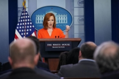 White House Press Secretary Jen Psaki speaks during the daily briefing in the Brady Briefing Room of the White House in Washington, DC on June 21, 2021. (Photo by MANDEL NGAN/AFP via Getty Images)
