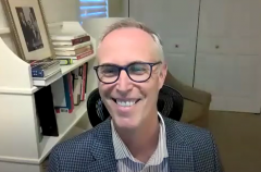 Rep. Jared Huffman (D-CA) hosts a YouTube livestream. (Photo credit: YouTube/Congressman Jared Huffman)