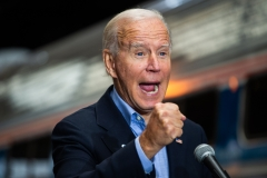 Joe Biden attends a campaign event. (Photo credit: ROBERTO SCHMIDT/AFP via Getty Images)