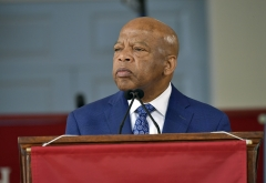 Rep. John Lewis (D-GA) delivers the keynote address at Harvard University Commencement Annual Meeting of the Alumni Association at Harvard University on May 24, 2018 in Cambridge. (Photo credit: Paul Marotta/Getty Images)