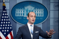 President Donald Trump's senior advisor for policy Stephen Miller speaks during the daily briefing at the White House in Washington, D.C., on Aug. 2, 2017. (Photo credit: JIM WATSON/AFP via Getty Images)