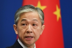 Chinese Foreign Ministry spokesman Wang Wenbin. (Photo by Greg Baker/AFP via Getty Images)
