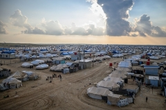 The Al-Hol camp in northeastern Syria, where captured ISIS jihadists and family members are held along with other people displaced by the fighting. (Photo by Bulent Kilic/AFP/Getty Images)