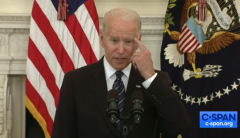 "President Biden says gun control will reduce ""gun violence."" (Photo: Screen capture)"