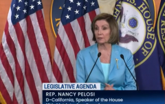 House Speaker Nancy Pelosi (D-Calif.) hold her weekly news conference on June 17, 2021. (Photo: Screen capture)