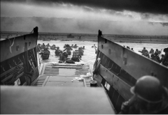 Omaha Beach, Normandy, France, June 6, 1944 (Photo by Chief Photographer's Mate Robert F. Sargent/National Archives/Public Domain)