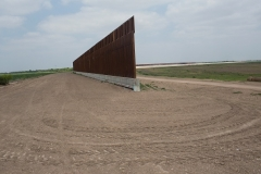 An unfinished section of the border wall in Granjeno, Texas. (Photo by Andrew Lichtenstein/Corbis via Getty Images)