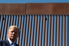 President Donald Trump visits the US-Mexico border in Otay Mesa, California on September 18, 2019. (Photo by NICHOLAS KAMM/AFP via Getty Images)