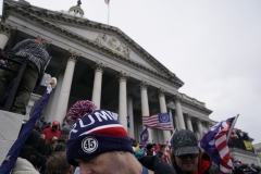 Supporters of President Donald Trump gather outside the Capitol on Jan. 6. (Photo credit: ALEX EDELMAN/AFP via Getty Images)