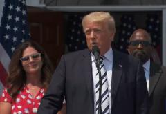 President Donald Trump announces a class-action lawsuit against the tech giants on July 7, 2021. (Photo: Screen capture)