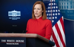 White House Press Secretary Jen Psaki speaks during a press briefing on February 17, 2021, in the Brady Briefing Room of the White House in Washington, DC. (Photo by SAUL LOEB/AFP via Getty Images)