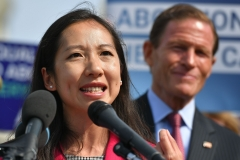 Leana Wen, then-president of Planned Parenthood, speaks during a press conference on the reintroduction of the Women's Health Protection Act. (Photo credit: MANDEL NGAN/AFP via Getty Images)