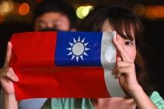 Le drapeau national de Taïwan. (Photo de Philip Fong/AFP via Getty Images)