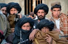 Taliban fighters in Afghanistan's western province of Farah. (Photo by Javed Tanveer/AFP via Getty Images)