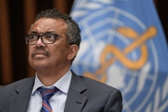 World Health Organization Director-General Tedros Adhanom Ghebreyesus. (Photo by Fabrice Coffrini/AFP via Getty Images)