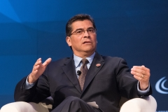 Department of Health and Human ServicesSecretary Xavier Becerra gives a speech. (Photo credit: Earl Gibson III/Getty Images)