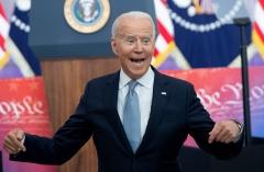 President Joe Biden misrepresents voting integrity legislation during a speech in Philadelphia on July 13, 2021. (Photo by SAUL LOEB/AFP via Getty Images)
